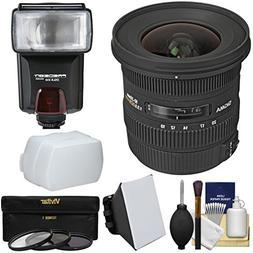 Sigma 10-20mm f/3.5 EX DC HSM Zoom Lens with Flash + Soft Bo