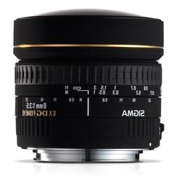 Sigma 8mm f/3.5 EX DG Circular Fisheye Lens for Canon SLR Ca