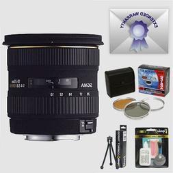 Sigma 10-20mm f/4-5.6 EX DC HSM Wide Angle AF Lens & Filters