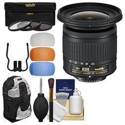Nikon 10-20mm f/4.5-5.6G DX AF-P VR Zoom-Nikkor Lens with 3