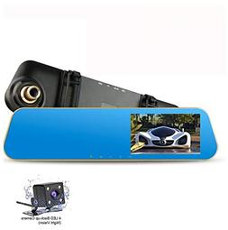 """4.3"""" FHD 1080P Dual Lens Car Camera Dash Cam DVR Recorder 17"""