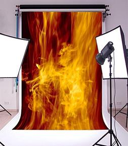Yeele 5x7ft Fire Flame Photography Backdrop Dream Color Seam