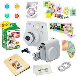 Fujifilm Instax Mini 9 Instant Camera SMOKEY WHITE w/ Film a