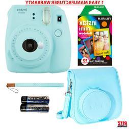 Fujifilm Instax Mini 9 - Ice Blue Instant Camera, 10 Prints