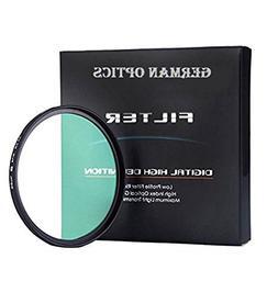 58MM GERMAN OPTICS Multi-Coated Ultra-Slim UV  Filter For EO