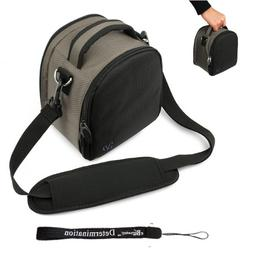 Grey Slim Holster Camera Bag Carrying Case will easily hold