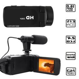 HD 1080P Digital Video Camera Camcorder YouTube Vlogging Rec