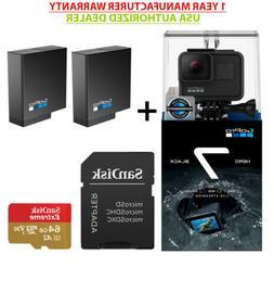 GoPro Hero 7 Black USA Edition+ 2USA GoPro Batteries+Sandisk