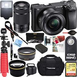 Sony ILCE-6300 a6300 4K Mirrorless Camera 16-50mm & 55-210mm