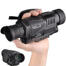 Landove 5x40mm Infrared HD Digital Night Vision Monocular wi