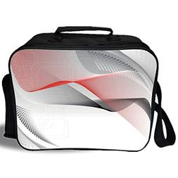 Insulated Lunch Bag,Abstract,Modern Digital Composition with