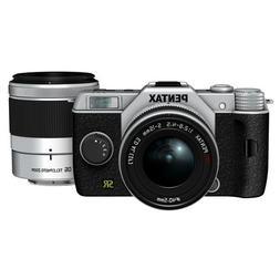 PENTAX interchangeable lens mirror Q7 double zoom kit  Silve