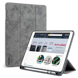 New iPad 9.7 Case 2018 with Pencil Holder,Flexible Soft TPU