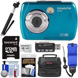 Polaroid iS048 Waterproof Digital Camera  with 32GB Card + C