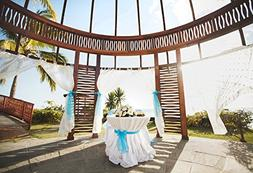 Baocicco Island Wedding Ceremony Backdrop 6.5x5ft Cotton Pol