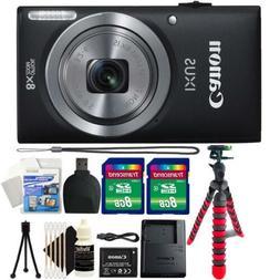 Canon IXUS 185 / ELPH 180 20MP Digital Camera Black and Acce