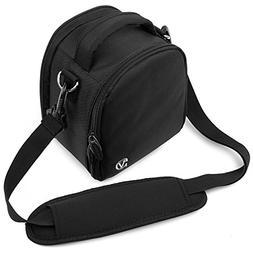 Vangoddy JET BLACK Small DSLR & SLR Camera Luxury Bag For Ca