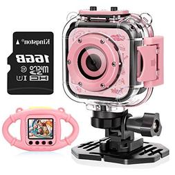 VanTop Junior K3 Kids Camera, 1080P Supported Waterproof Vid