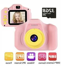 "Kids Camera Digital Cameras Toy 1080P 2.0"" HD Toddler Video"