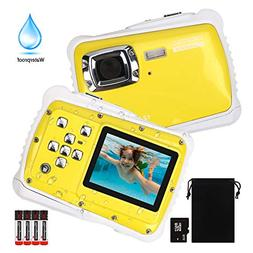 Kids Camera, Digital Waterproof Camera for Children with 3M