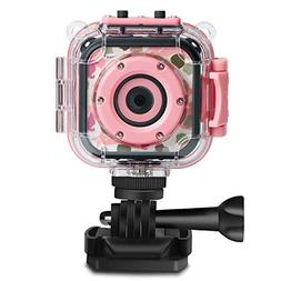 DROGRACE Children Kids Camera Waterproof Digital Video HD Ac