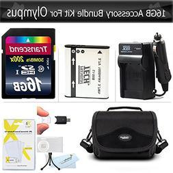 16GB Accessories Bundle kit For Olympus XZ-1 SZ-10 SZ-20 SZ-