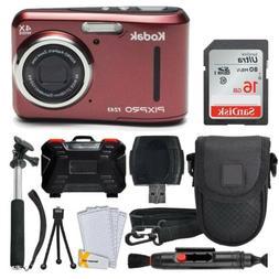 Kodak PIXPRO FZ43 Digital Camera  + 16GB Memory Card + Delux