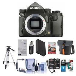 Pentax KP 24MP TTL Autofocus DSLR Camera, Black with Premium