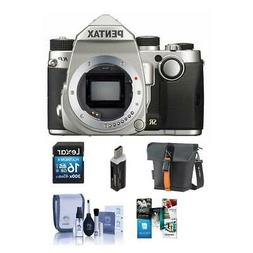 Pentax KP 24MP Compact TTL Autofocus DSLR Camera, Silver - B