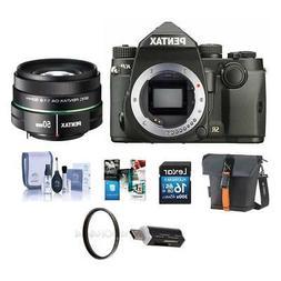 Pentax KP 24MP DSLR Camera Black With SMCP-DA 50mm f/1.8 Len