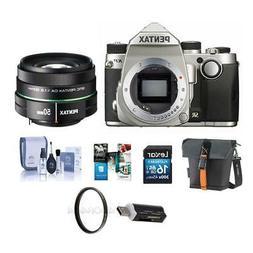Pentax KP 24MP DSLR Camera Silver With SMCP-DA 50mm f/1.8 Le