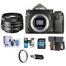 Pentax KP 24MP TTL Autofocus DSLR Camera, Black With SMCP-DA