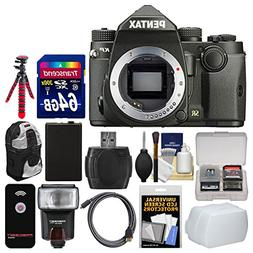 Pentax KP Wi-Fi Digital SLR Camera Body  with 64GB Card + Ba