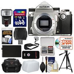 Pentax KP Wi-Fi Digital SLR Camera Body  with 64GB Card + Ca