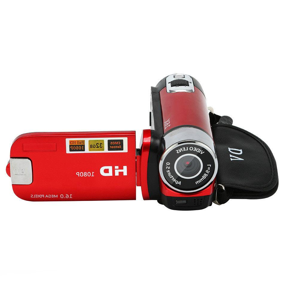 16MP FHD 1080P Camcorder Camera 16X Digital Zoom DV DVR 2.7''