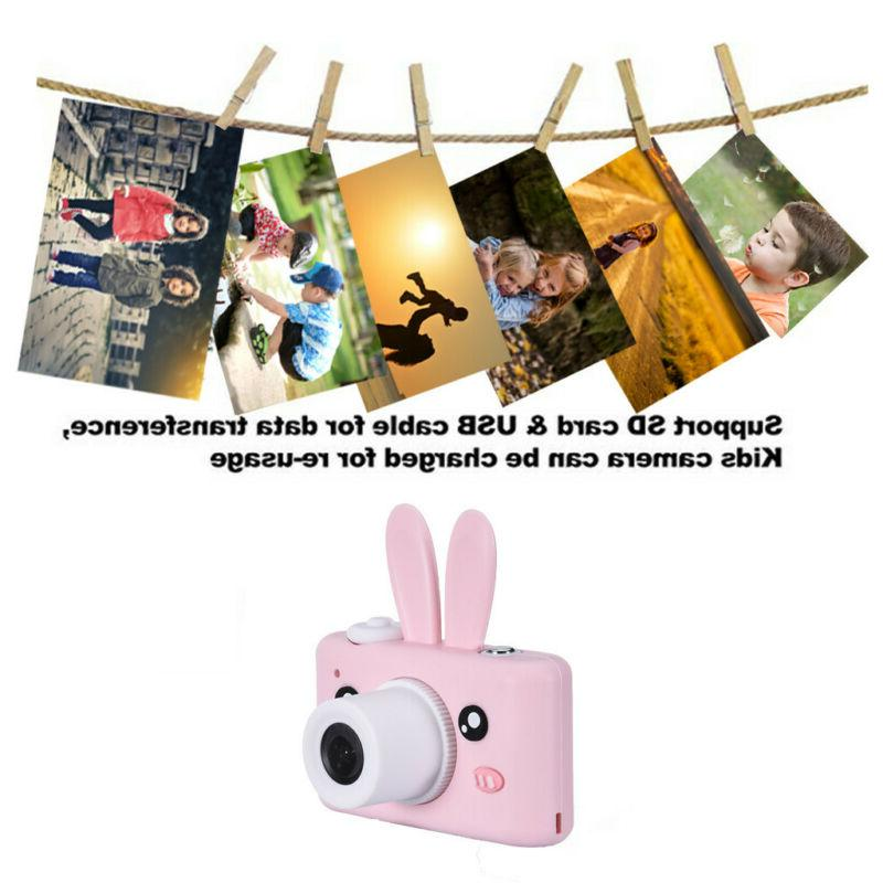 Kids Camera Rechargeable Digital Cover 8MP 16G