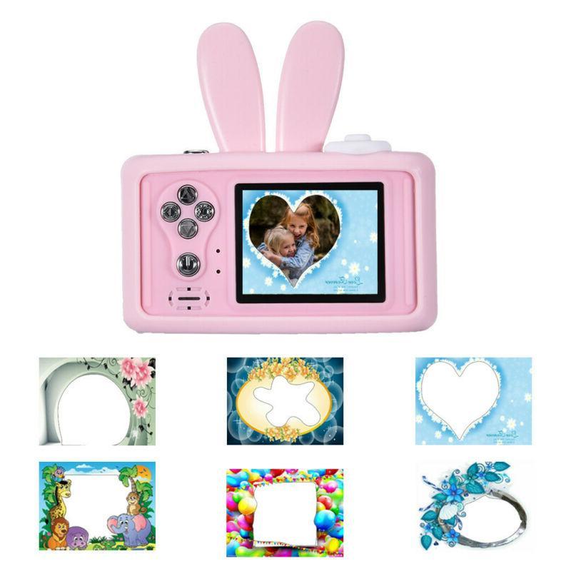 Kids Camera Rechargeable Children Digital Cameras Rabbit Cover 8MP