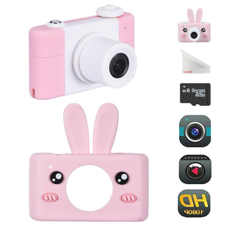 Kids Camera Rechargeable Children Digital Cameras With Rabbi
