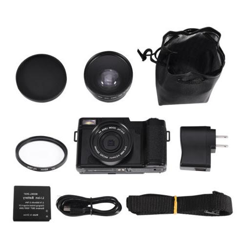 24MP 4 Digital Camera Full 1080P Professional Camcorder Camera