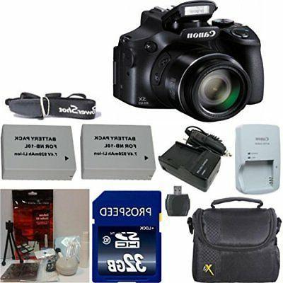 Canon PowerShot SX60 HS 16.1MP Digital Camera with 65x Optic