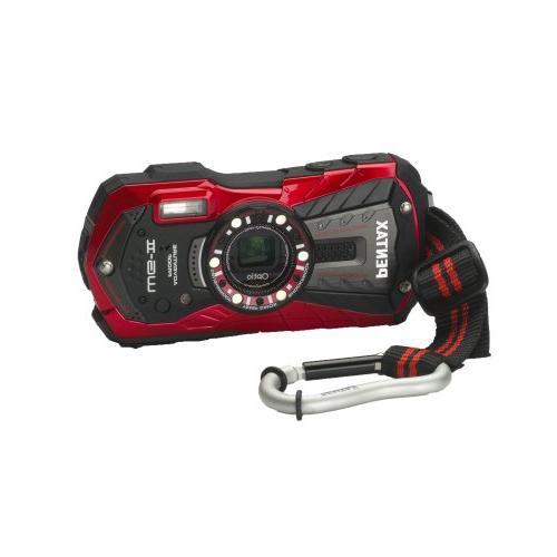 Pentax Optio WG-2 Digital Camera, Vermillion Red