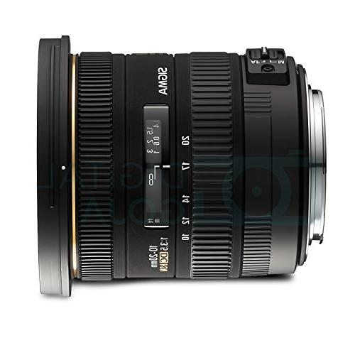 Sigma 10-20mm f/3.5 DC HSM Wide-Angle DSLR Cameras and Travel Bundle