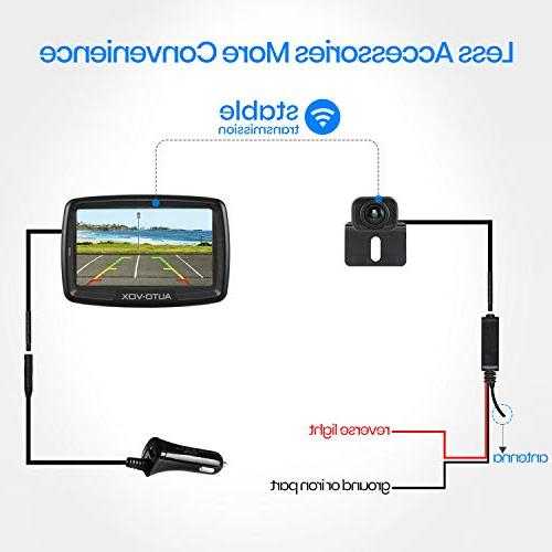 AUTO Backup Camera CS-2, Stable Signal Rear View Monitor for Cars,RVs