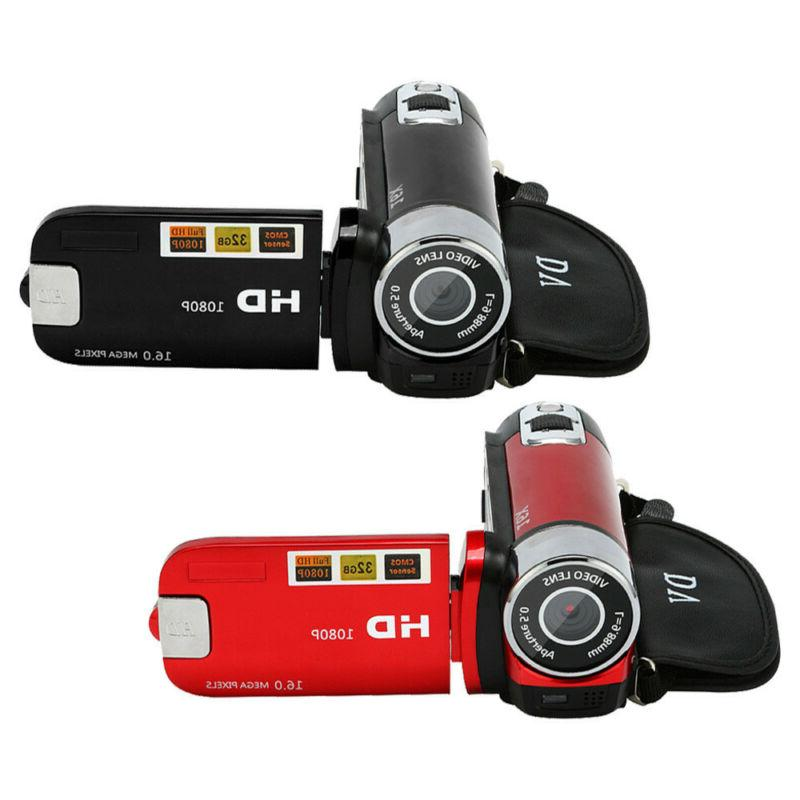 Automatic Video Camcorder 1080P Handheld Camera 16X Digital