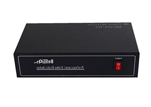 BeElion TV CCTV Video 1 8 Out Switch Splitter Box, AHD/CVI/TVI
