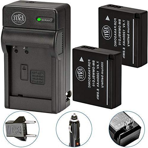 BM Qty 2 DMW-BLG10 Batteries & Charger for Panasonic Lumix D