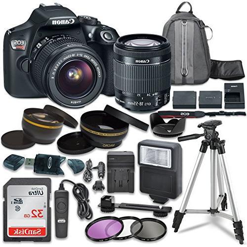 canon eos rebel digital slr camera ef s 18 55mm image stabil