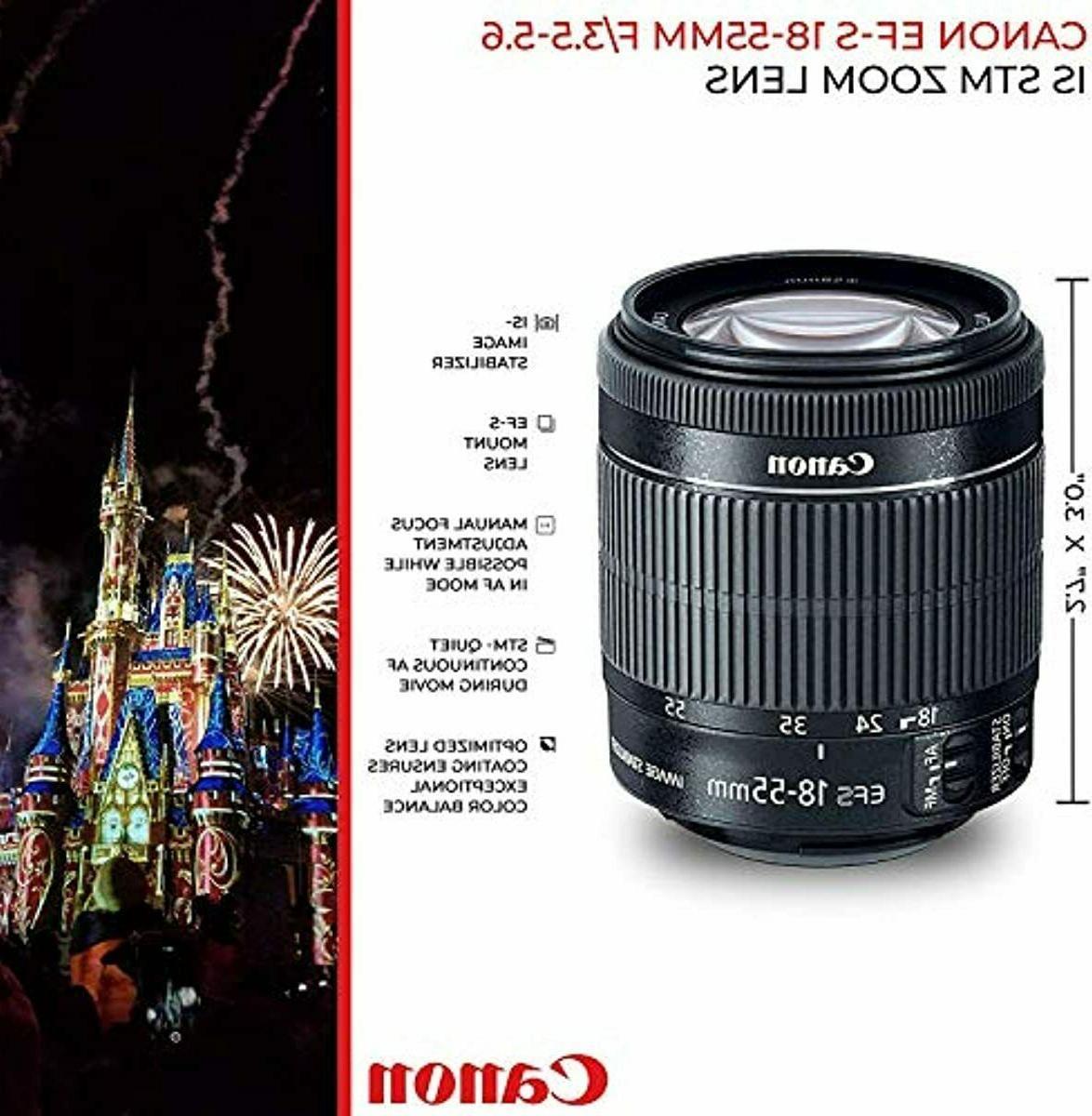 Canon Rebel T7i 24.2MP SLR + f/4-5.6 is