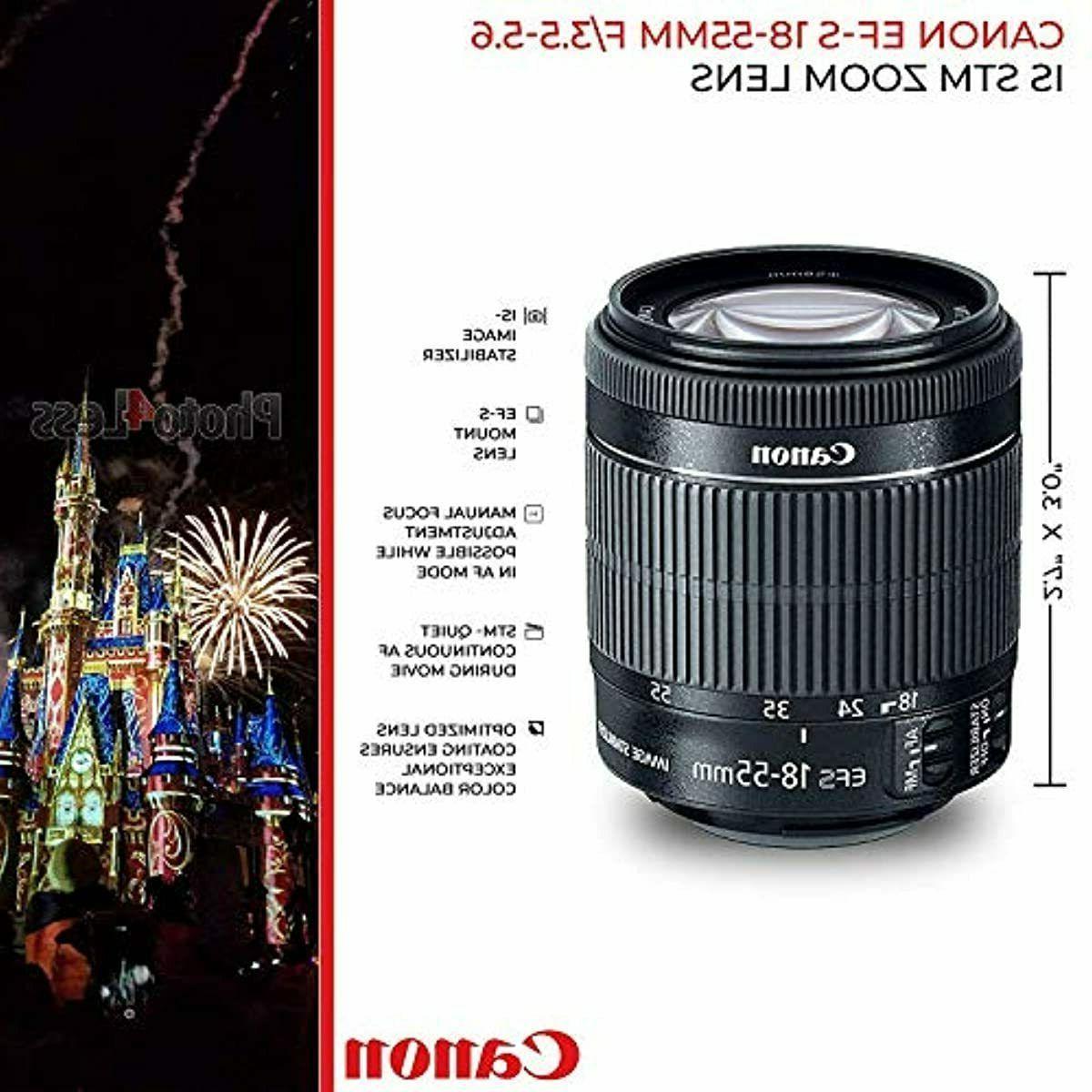 Canon EOS Rebel Digital EF-S 18-55mm STM Lens