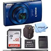 Canon PowerShot ELPH 190 Digital Camera COMPLETE BUNDLE w/10